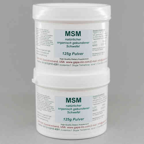 MSM (Methyl Sulfonyl Methan) Pulver 250