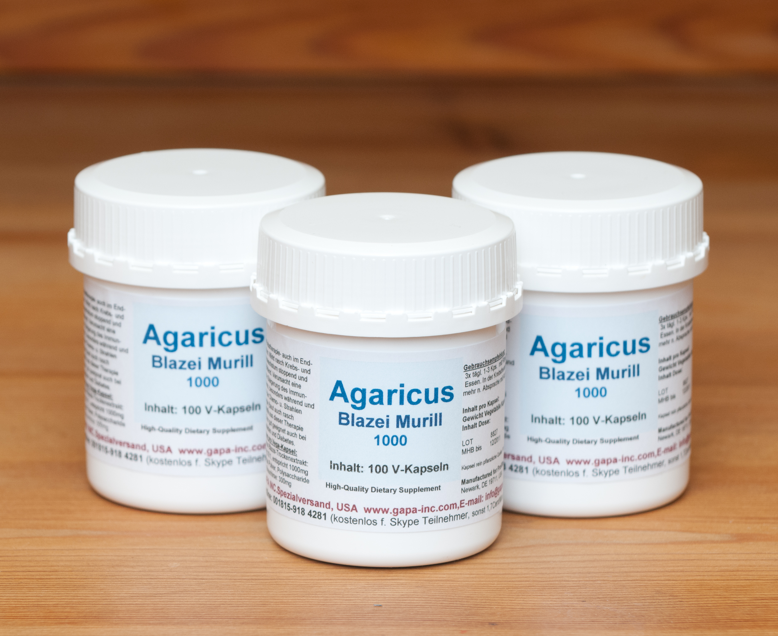 Agaricus-Blazei-Murill Extract 10:1  (3er Set)